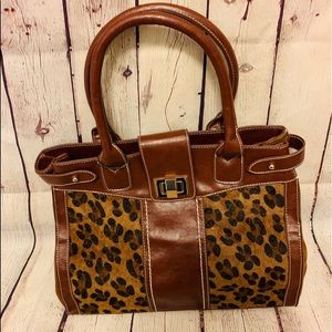 Leopard Print & Brown Purse NWT